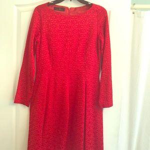 Carolina Herrera Red Cocktail Dress